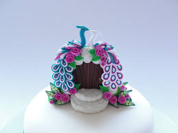 peacock wedding cake topper peacock wedding cake topper in turquoise white and pink colours