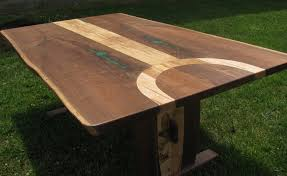 Attractive Live Edge Kitchen Table And Custom Made Ambrosia Maple - Maple kitchen table