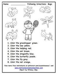bug graph worksheet numbers pinterest worksheets preschool