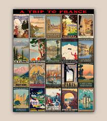 Home Decor Posters Travel Posters Collection Trip To France 11x14 Print Vintage
