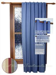 Curtain Panels Homespun Double Lined Window Warmth Curtain Panels Available In