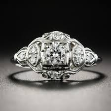 deco engagement rings platinum deco engagement ring