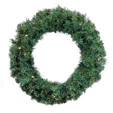24 pre lit green cedar pine artificial wreath warm white led lights