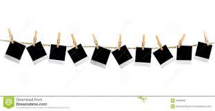 mutiple blank polaroid frames hanging clothesp tikspor