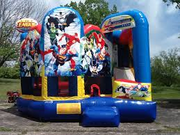 bounce house rentals houston bounce house rental justice league combo party rental