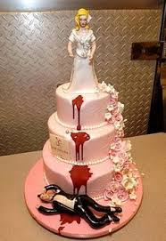 wedding cake joke there once was a fugly cake and i killed it justa basketcase