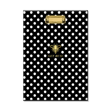 polka dot stationery padfolio with clipboard padfolio paper padfolio refill paper