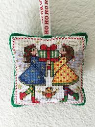 handmade cross stitch ornament tree