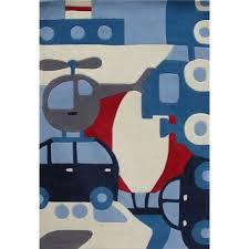 chambre garcon avion tapis enfant thème moyens de transport