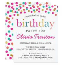 birthday party invitations kids birthday party invitations announcements zazzle