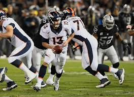 Oakland Raiders American Flag Broncos U0027 Trevor Siemian To Start Vs Raiders But Paxton Lynch To