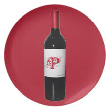 wine bottle plates wine bottle plates zazzle