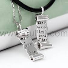custom necklaces cheap opulent ideas personalized necklaces for couples lock and key