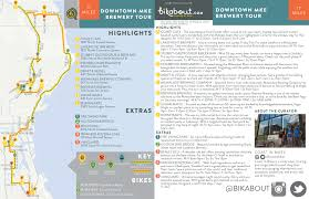 Wisconsin Breweries Map by Downtown Milwaukee Brewery Tour U2014 Bikabout