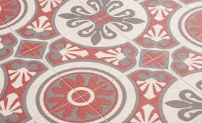 Carrelage Rouge Sol by Sol Vinyle Emotion Carreau Ciment Rouge Et Gris Rouleau 4 M