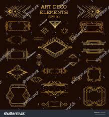 art deco frame vintage design elements imagem vetorial de banco