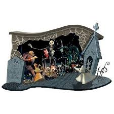 The Nightmare Before Christmas Home Decor Nightmare Before Christmas Halloween Wall Diorama Neca