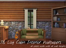 Log Siding For Interior Walls Mod The Sims Log Cabin Interior Wall Set 18 Colors