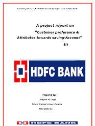 hdfc bank project report banks debits and credits