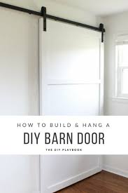 How To Install Barn Doors by How To Build And Hang A Diy Barn Door Step Two Of Three