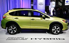 subaru hybrid crosstrek black subaru confirms performance concept xv crosstrek hybrid for new
