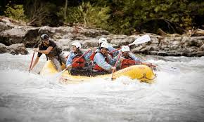 whitewater river rafting in the mountains