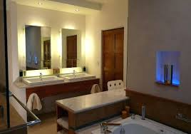 Bathroom Mirror With Built In Light Built In Bathroom Mirror Bath Panel Ideas Bathroom Contemporary