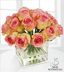Square Glass Vase Pink Rose Buds In Square Glass Vase Royal Fleur Florist