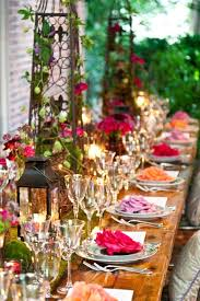 themed tablescapes boho chic garden style i nature of design with janet flowers i