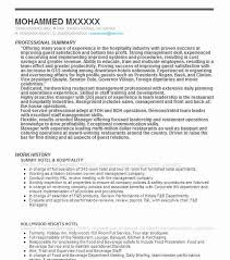 Food And Beverage Resume Examples by 12 Amazing Hotel U0026 Hospitality Resume Examples Livecareer
