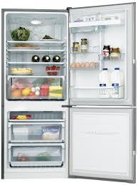 westinghouse wbm3700sbr 370l bottom mount fridge appliances online