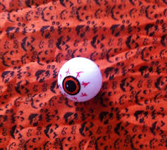 eyeball string lights and candy corn bunting a simple halloween