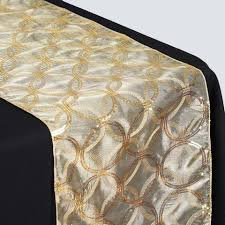 Designs For Runners Gold Sequin Circle Designs Table Runners Table Top Wedding
