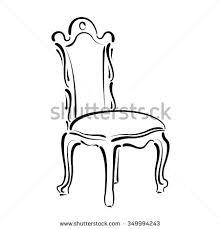 vintage chair sketch stock vector 349871381 shutterstock