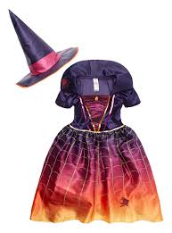 halloween kids spellbound spider witch costume 3 12 years tu
