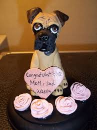 single dog wedding cake topper single dog sculpture with base