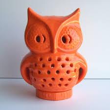 Vintage Halloween Owl by Owl Lantern Halloween Lantern Ceramic Owl Vintage Design