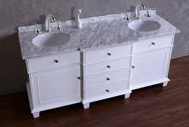 60 Inch Double Sink Bathroom Vanities by Stufurhome Cadence White 60 Inch Double Sink Bathroom Vanity With