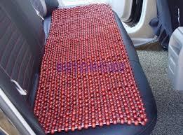 coussin si e auto 1 set coussin de siège de voiture couvre bois perle perlée naturel
