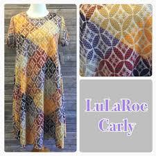 lularoe fall color patterned unicorn carly dress rare sarah