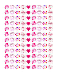 printable stickers valentines valentine s kiss stickers