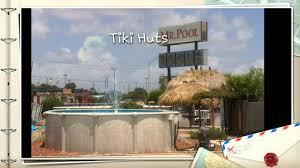 tiki hut and tiki bar at mr pool pinellas park fl youtube
