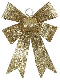 sequin and glitter bow ornament gold 5 traditional
