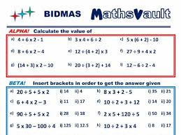 bidmas differentiated worksheet by jtodd854 teaching resources tes