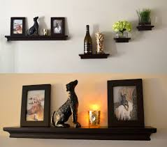 beauteous black wooden floating shelves idea with classy classic