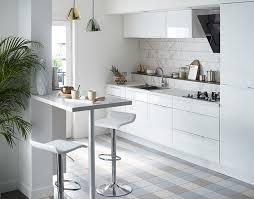 meuble de cuisine blanc brillant element cuisine blanc idée de modèle de cuisine