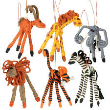 safari animal figurines from colombia fair trade handmade