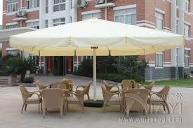 Big Patio Umbrellas by 5 Meter Square Deluxe Aluminum Big Outdoor Patio Sun Umbrella