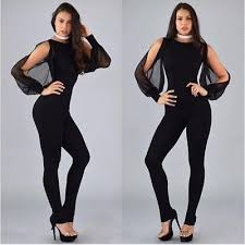 casual jumpsuits black polyester chiffon casual jumpsuits size xl sandys