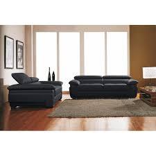 canap 3 2 cuir canapé 3 2 places cuir design noir achat vente ensemble